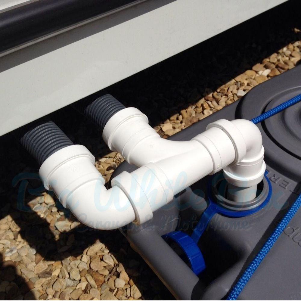 Caravan Waste Outlet Double Connection Kit