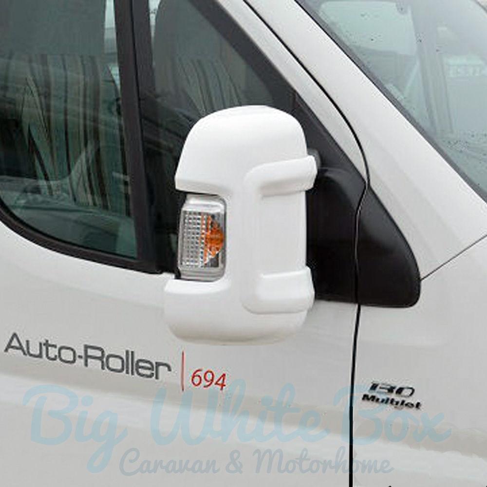 Boxer Relay Milenco Motorhome Mirror Protectors Black Pair Short Arm Ducato